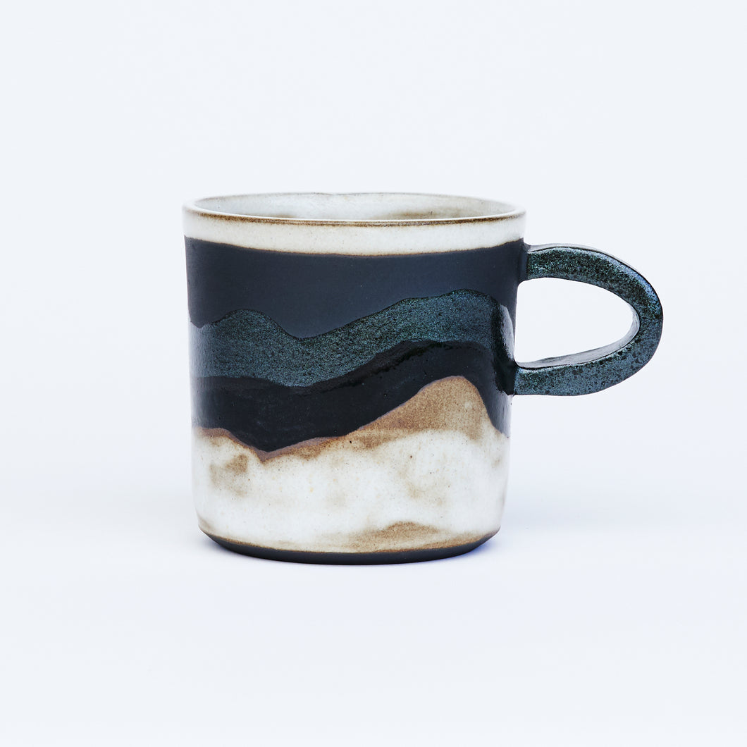 Snowy Black Mountain Mug