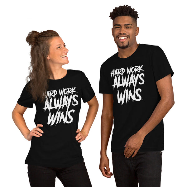 Hard Work Always Wins SPLASH Short-Sleeve Unisex T-Shirt (Multi-color options)
