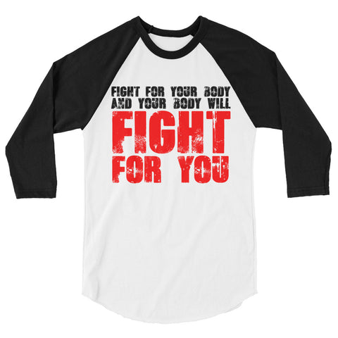 FIGHT FOR YOU baseball shirt