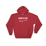 Hard Work Always Wins Hooded Sweatshirt (S-5XL, Multicolor)
