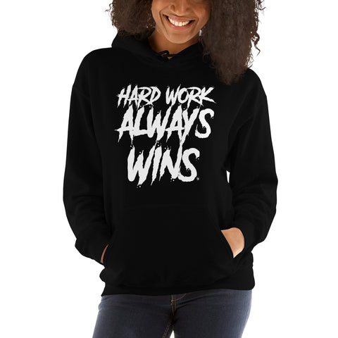 Hard Work Always Wins SPLASH Unisex Hooded Sweatshirt (Multi-color option)