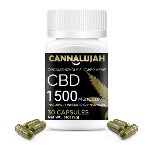 1500mg Cannalujah Full Spectrum CBD Capsules