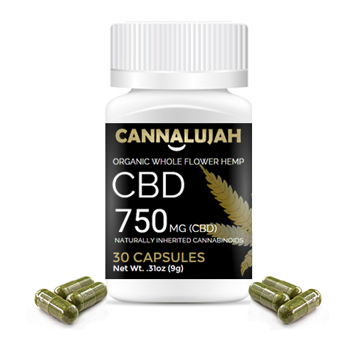 750mg Cannalujah Full Spectrum CBD Capsules