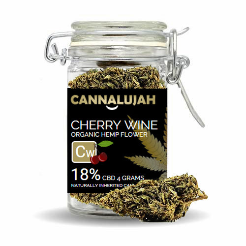 CBD HEMP FLOWER CHERRY WINE (18% CBD - 4 GRAMS)