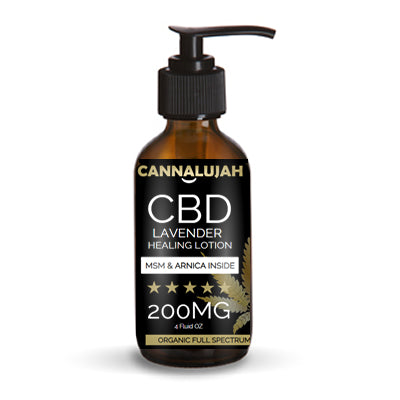 200mg Cannalujah Full Spectrum Peppermint, Lemon Grass, Lavender Healing Lotion