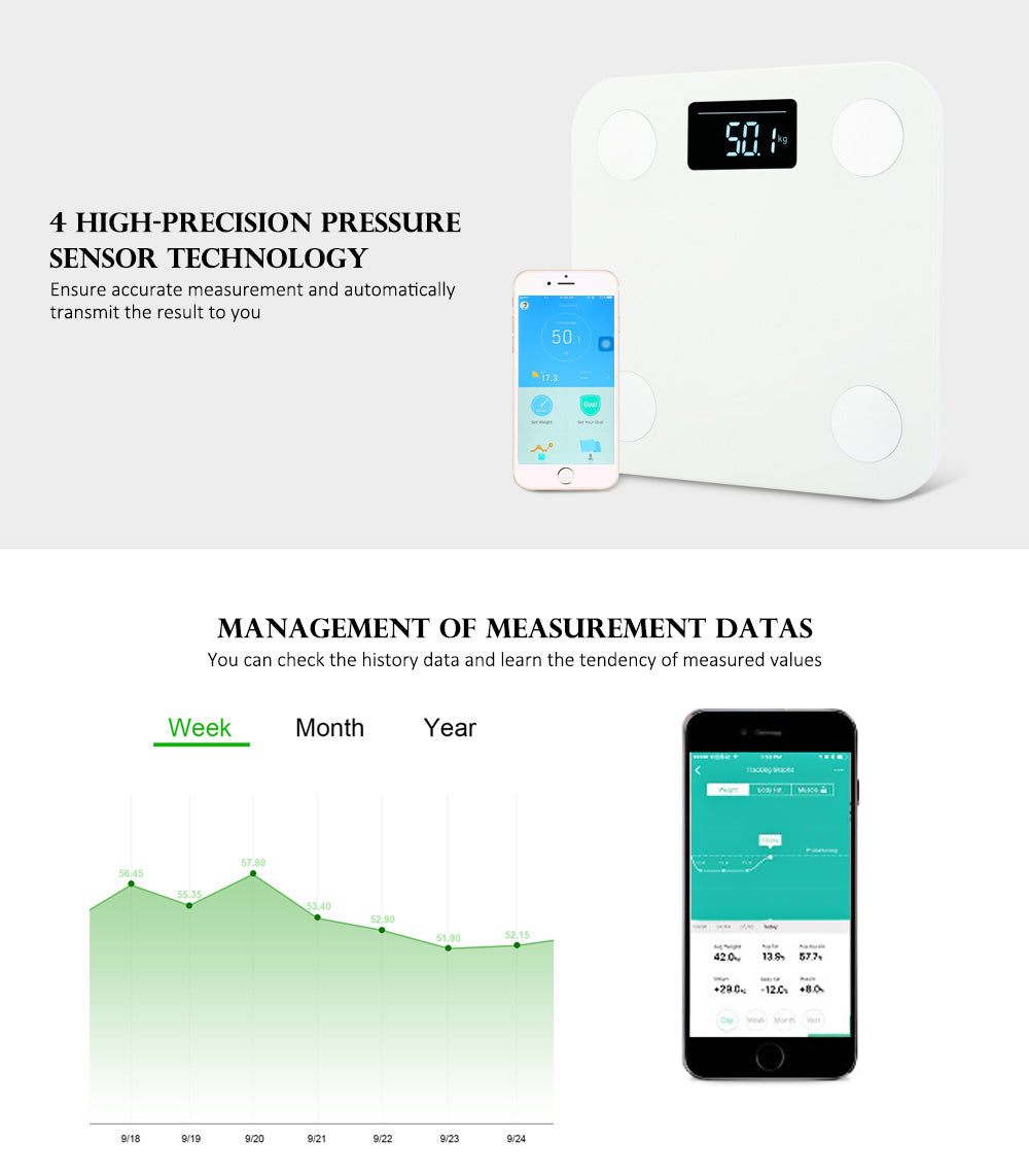 Body Fat Scales with Bluetooth APP Android or IOS