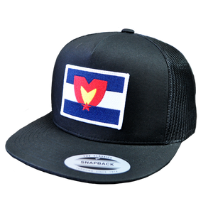 Mile High Patch Snapback Black