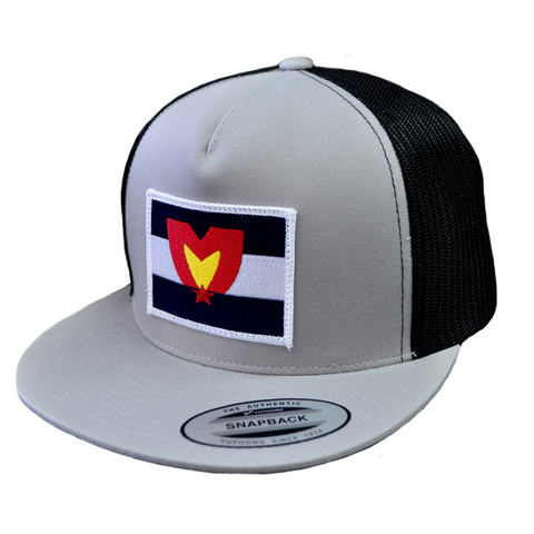 Mile High Patch Snapback Black & Grey