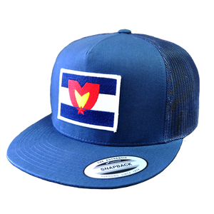 Mile High Patch Snapback Blue