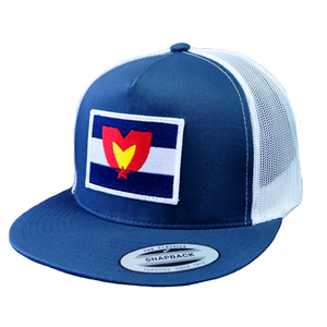 Mile High Patch Snapback Blue & White