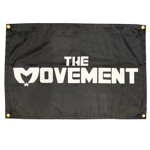 The Movement Logo Flag