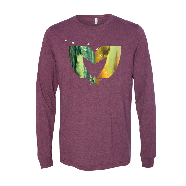 Cloud Long Sleeve (Maroon)