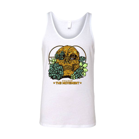 Golden Skull Tank - White