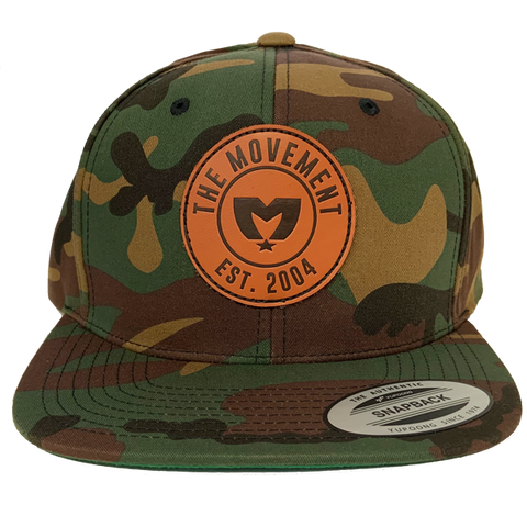 Camo Leather Patch Hat