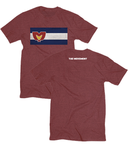 Mile High Tee - Cabernet