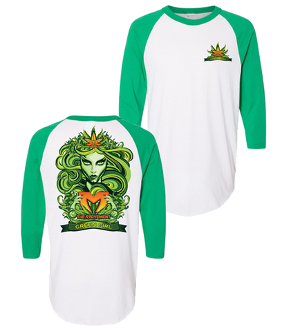 Green Girl Raglan