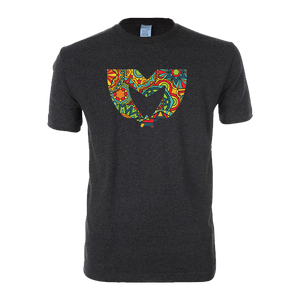 Pattern Tee Charcoal