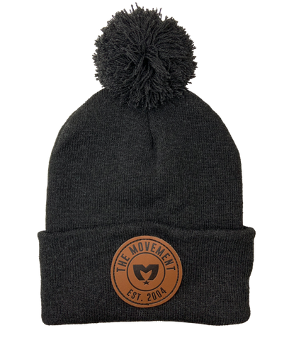 Patch Beanie (Charcoal Heather)
