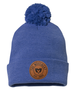 Patch Beanie (Royal Heather)