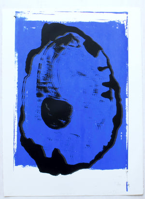 Gravity no. 9 silkscreen painting