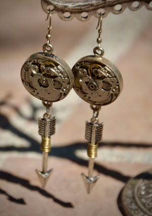 Clockworks and Arrows Earrings