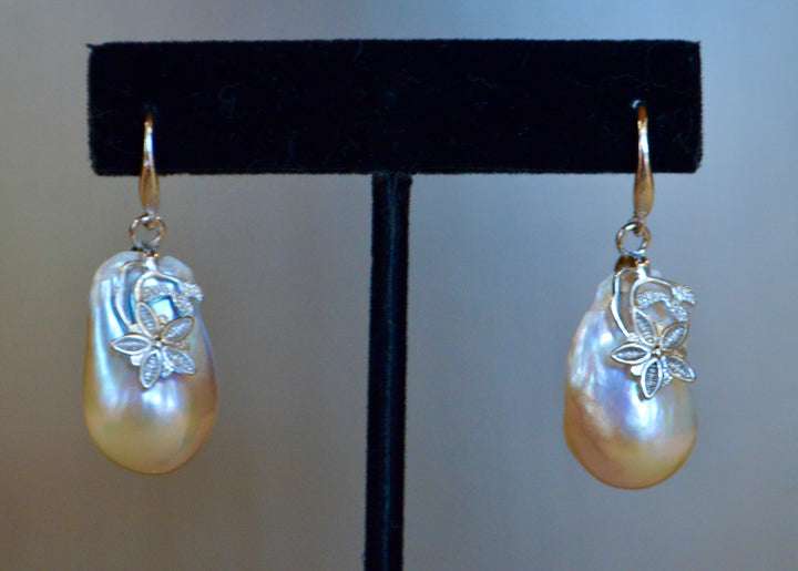 Baroque Drop Pearl Earrings