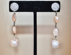 Pearl and Moonstone Earrings