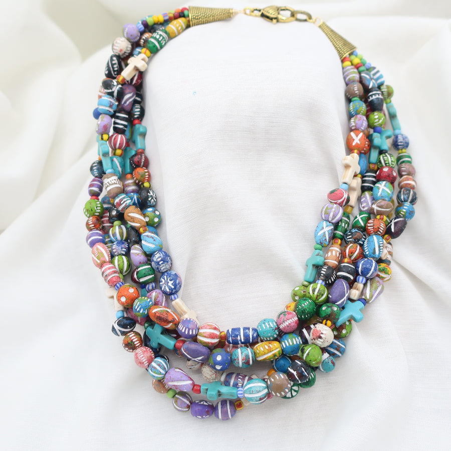 Six Strands of Color Necklace