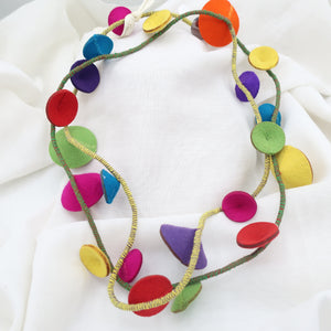 Fabric Dots Necklace
