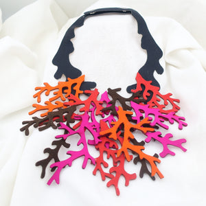 Fiber Coral Necklace