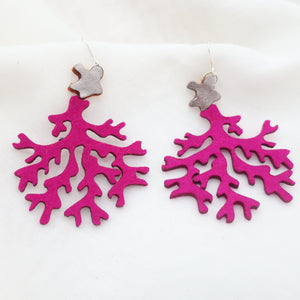 Fabric Coral Earrings