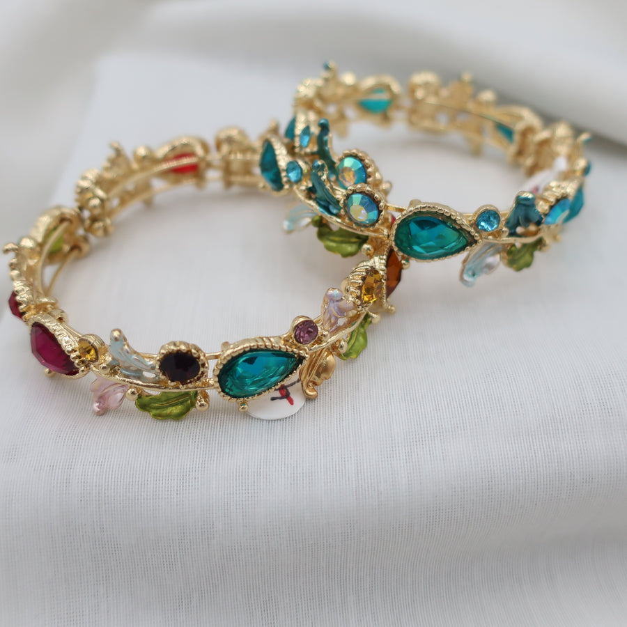 2.50SALE Multi Colored Crystal Stone Wrap Bracelet