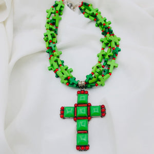 Cluster of Crosses Pendant Necklace