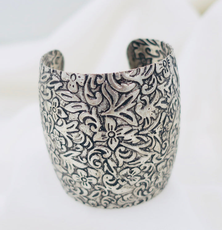 Decorative Wide Cuff Bracelet