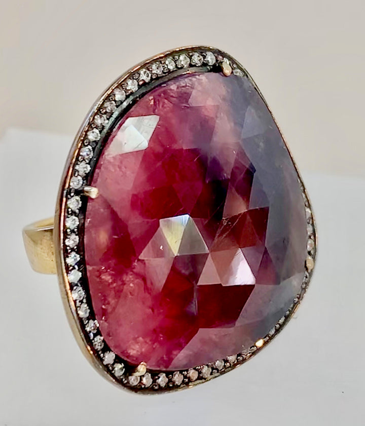 Unique Pink Sapphire Ring