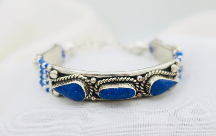 Lapis With Teardrop Bracelet