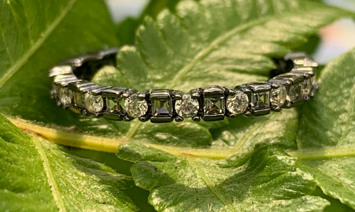 Smoky CZ Stack Ring