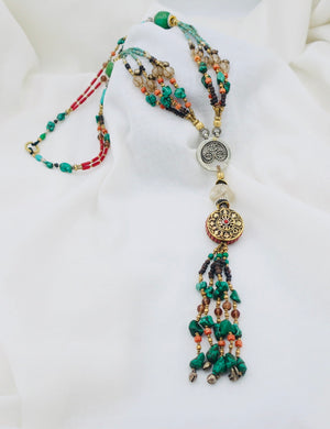 Long Tibetan Chain Necklace