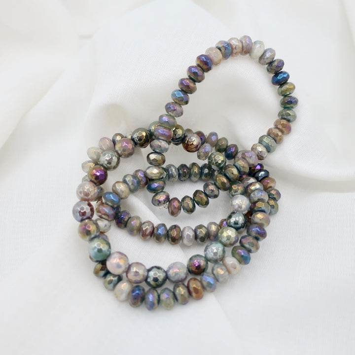 Iridescent Faceted Bead Bracelets