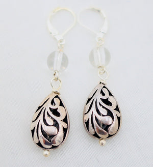 Silver Open Filigree Earrings