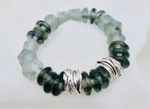 Multi Gray Bead Bracelet