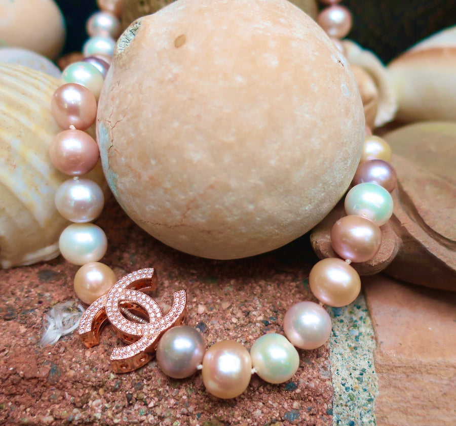 Pastel Rainbow Pearls Necklace