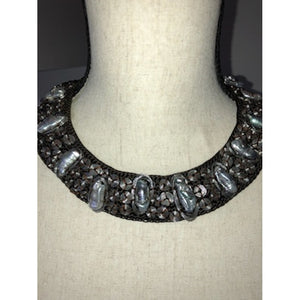SALE Hand-Knotted Pearl Collar Necklace