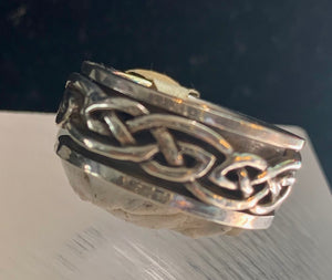 Celtic Knot Silver Spin Ring