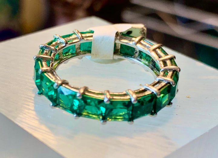 Green Onyx Eternity Ring