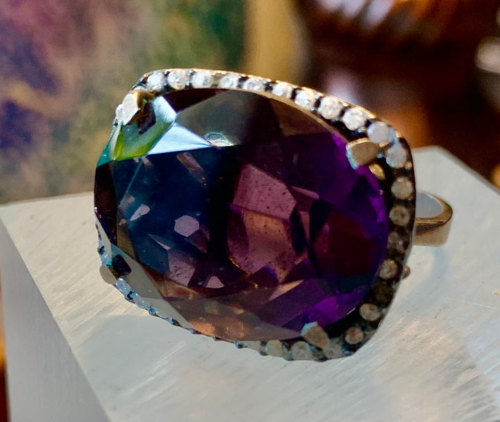 Dramatic Large Amethyst Ring