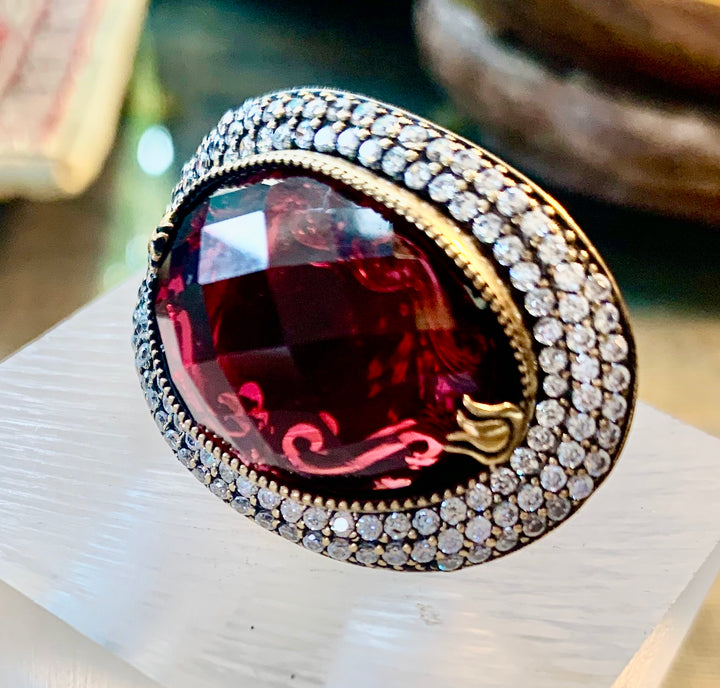 Over the Top Garnet Ring