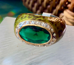 Animal Print Enamel Ring