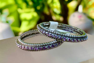 Amethyst Stack Rings