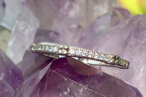Delicate Silver and Crystal Ring